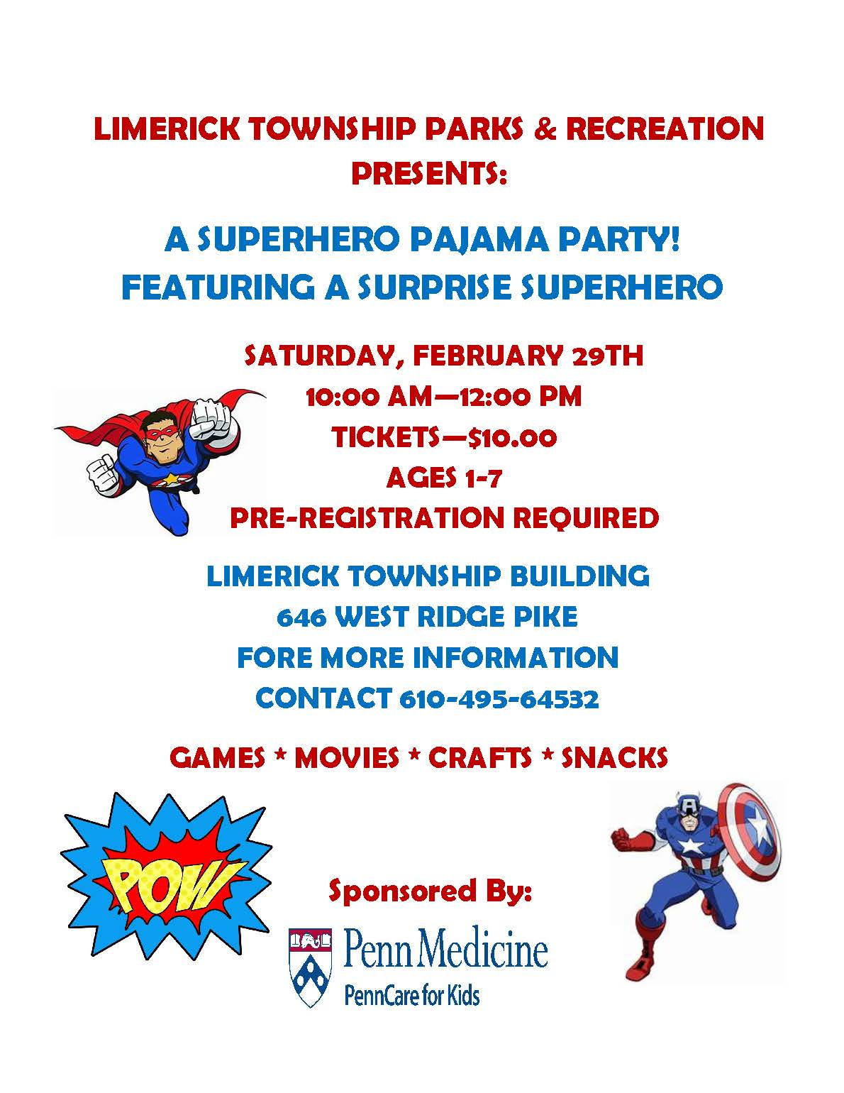 2019 Super Hero Pajama Party