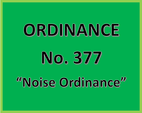 "Click Here to Read the Limerick Township Ordinance No. 377 - ""Noise Ordinance"""
