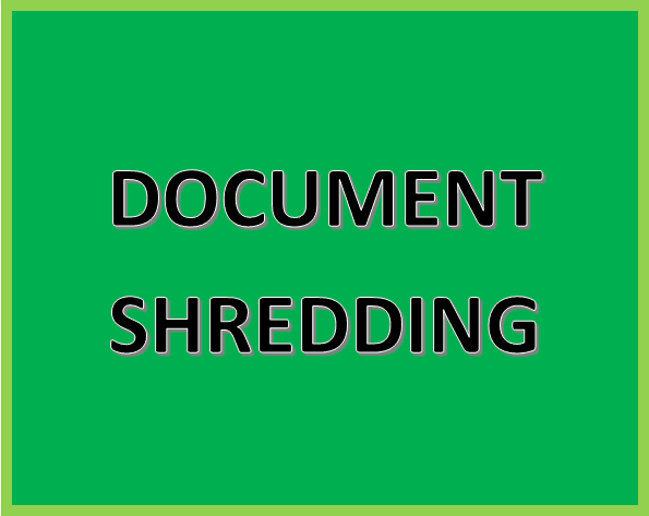 Click Here for More Information on Document Shredding