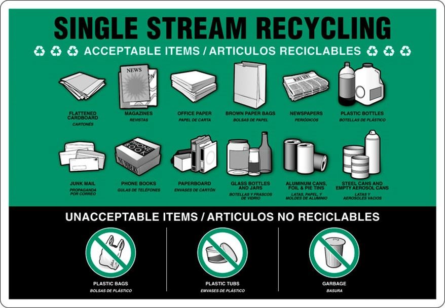 Single Stream Recycling Informational Flyer
