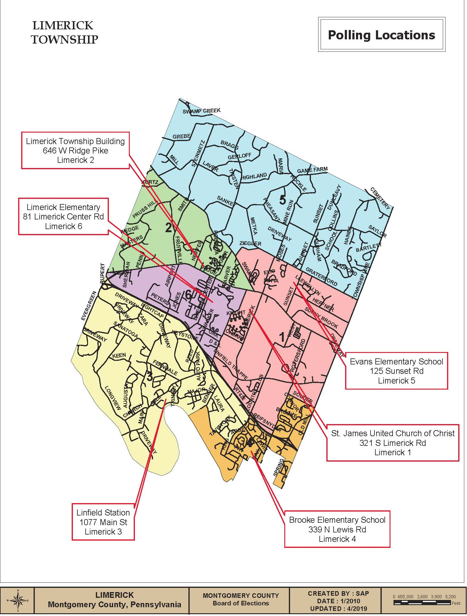 Voting Precinct Map - Limerick Township 2019