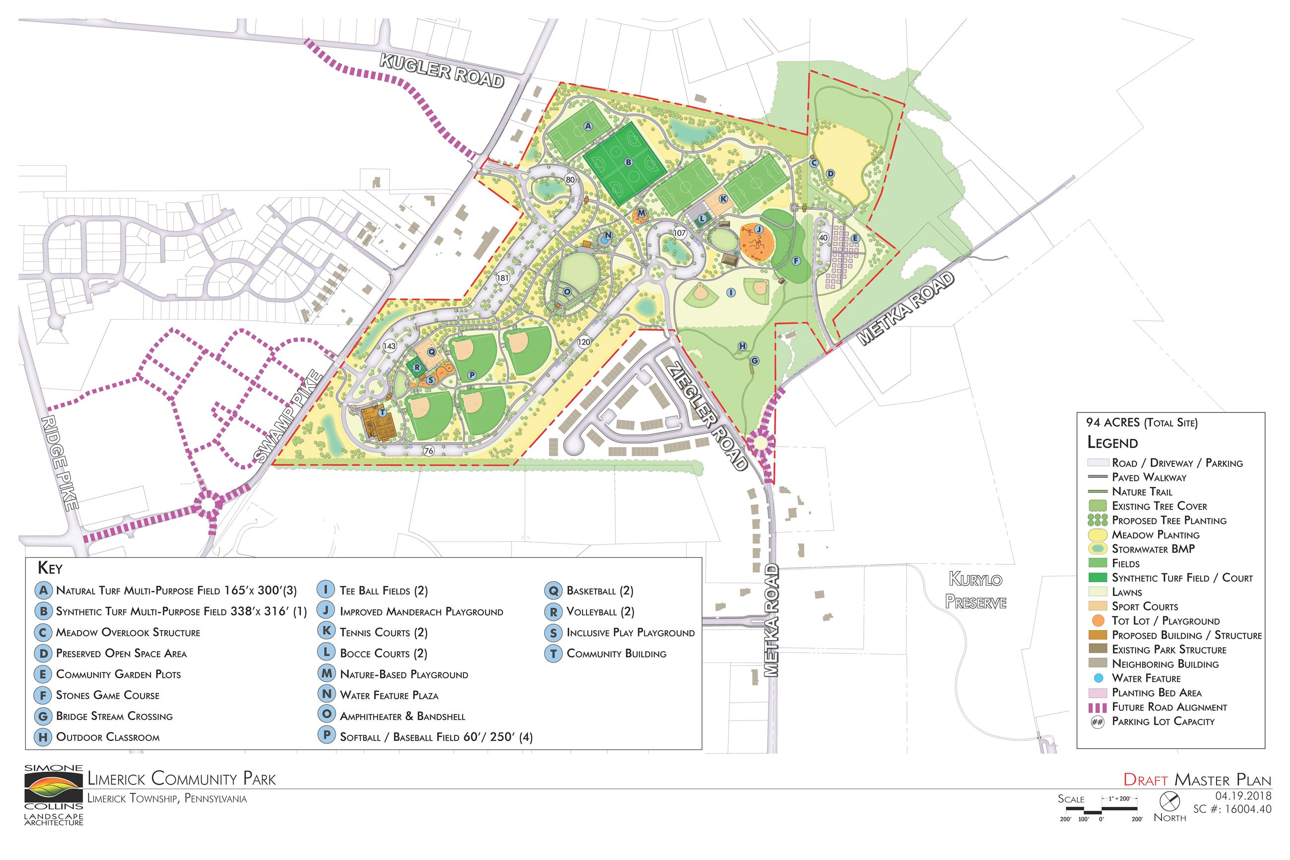 Limerick Community Park Master Plan | Limerick, PA