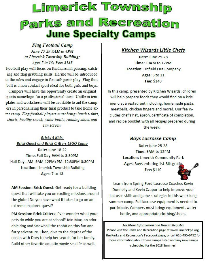 2018 June Specialty Camps
