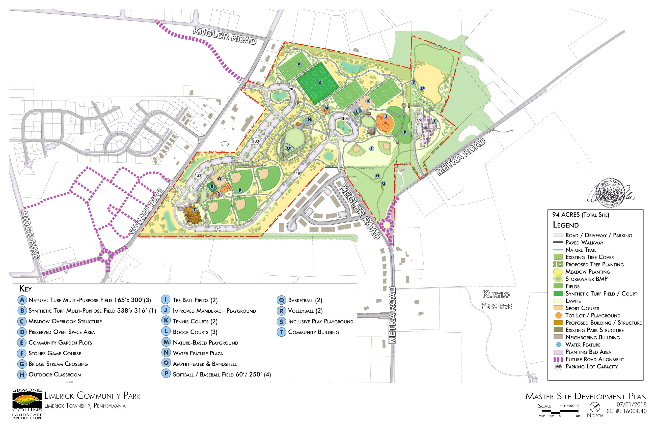 Limerick Community Park Maste Site Plan - Final