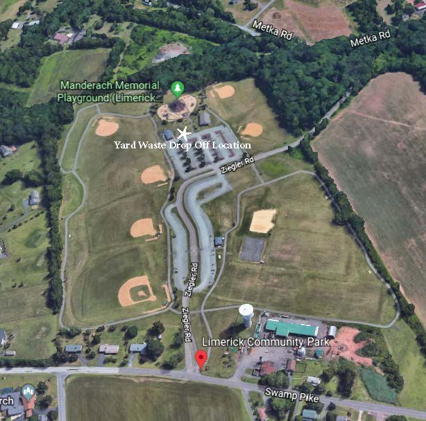 Aerial Image of Limerick Community Park Depicting Yard Waste Drop Off