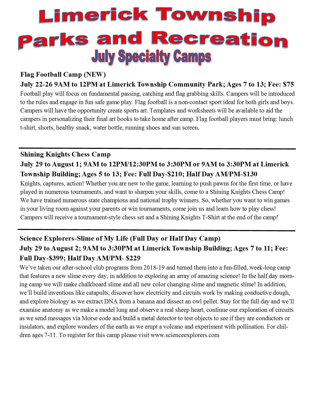 2019 July Specialty Camps pg 2