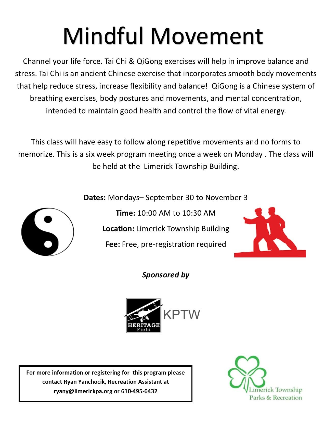 2019 Fall full page flyer tai chi